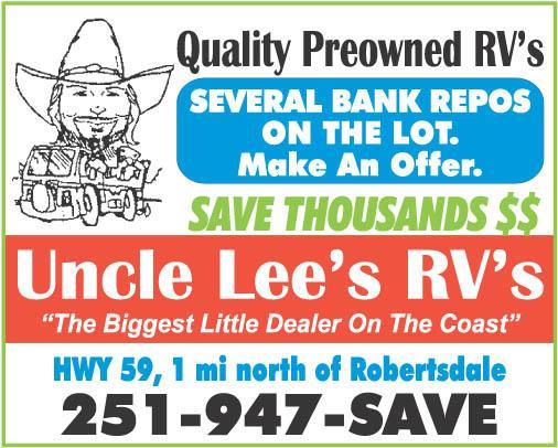 Uncle Lee's RV's!!! Big Enough to Serve You, But Small Enough to Care!!!
